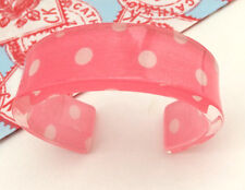 Cath Kidston Bangle - Pink & White - Little spot design - Lovely Quality! BNWT