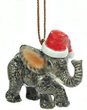 Northern Rose Porcelain Christmas Tree Decoration Elephant with Santa Hat R304