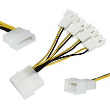 5cm SATA 4Pin Male to 4x 3Pin Male Computer Fan Y Splitter Extension Cable Wire