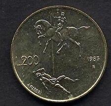 San Marino 200 Lire 1983 FDC (UNC)  Cavaliere