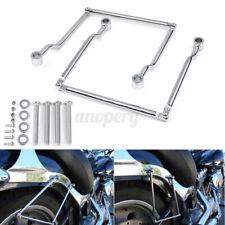 Universal Motorcycle Side Saddlebag Luggage Support Bar Bracket For Honda Suzuki