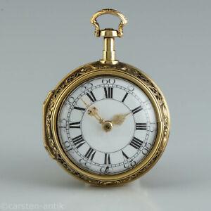 "George Michael Moser, 22K Gold Spindeluhr Repousse ""Das Urteil des Paris"" 1739"