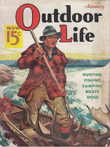 Vintage Outdoor Life magazine cover reproduction steel sign cabin decor