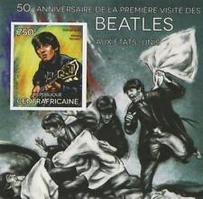 50th ANNIVERSARIO DEI BEATLES negli Stati Uniti George Harrison imperforated FRANCOBOLLO SHEETLET 2014