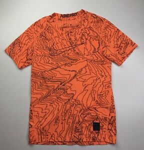 Nike Pro Dri Fit Short Sleeve Fitted Athletic T Shirt Boys Youth Small Orange