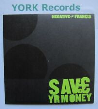 """NEGATIVE FOR FRANCIS - Save Yr Money  Excellent Con 7"""" Single 1-2-3-4 1234-7IN02"""