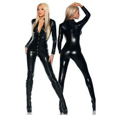 Le donne in Vinile PVC Gloss in Pelle Catsuit sexy Clubwear MOTORE Tuta Body