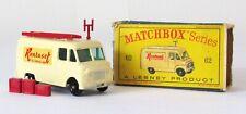 Vintage Lesney Matchbox 62 Rentaset TV Service Van Regular Wheel NEAR MINT & BOX