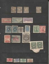 oldhal-Colombia-Interesting lot of Revenue stamps plus others