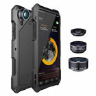 For iPhone X 8 7 Plus Waterproof +3 Camera Lens Shockproof Metal Case Back Cover