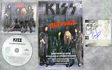 KISS REVENGE Gene Simmons Autographed Promo Slipcase ++ CD Display 1-Of-A-Kind!!