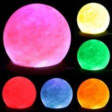 USB naturale sale dell'Himalaya sfera Lampada-ROUND Rock Crystal Multi Colore Cangiante