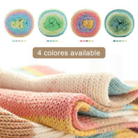 Colorful Thick Warm Diy Crochet Knitting Hand-Woven Baby Soft Cotton Wool Yarn