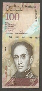 Venezuela 100 Bolivares 20.3.2007; UNC; P-93; Birds; First date of issue;Serie A