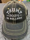 TRUMP 2024 NO BULLSHIT REAL TREE CAMO EMBROIDERED WITE EMBROIDERY 2024