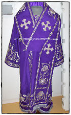 Orthodox Bishop Vestment Embroidered Purple Gold or any color