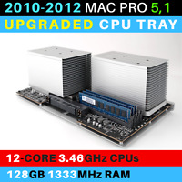 2010-2012  Mac Pro 5,1 CPU Tray with 12-Core 3.46GHz Xeon and 128GB RAM