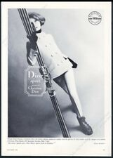 1964 Christian Dior women's ski jacket coat stretch pants photo vintage print ad