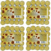 4 x Prices Candles Tealights Citronella Fragranced Garden Pack of 25