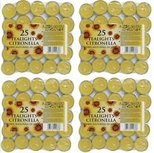 100 x Prices Citronella Tealight Candles T Light Gardens Patio Wasp Quality New