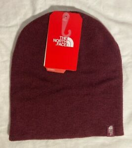 The North Face Beanie 100% Merino Wool Unisex Adult One Size- Maroon