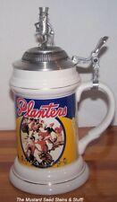 BRILLIANT Nabisco Planters Peanuts MR. PEANUT Fine Porcelain Stein! #0282