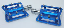 Wellgo C266 Mountain Bike Flat/Platform Pedals Blue 115 Grams