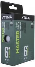 Table Tennis Balls: Stiga 1 Star Master Plastic White x 72 Pack