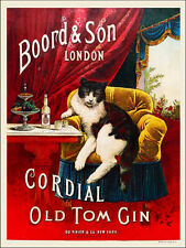 Old Tom London Gin Boord & Son vintage label reproduction steel sign bar decor
