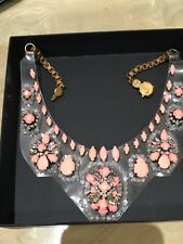 Authentic Shourouk PVC Rhinestone Bib Necklace