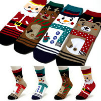 4 Pairs Christmas Characters Socks Women Girl Boy Big Kid s Cute Cartoon Socks