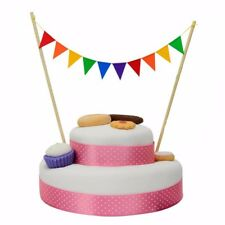 COLOURFUL BUNTING CAKE TOPPER Rainbow Birthday Celebration Party Decoration