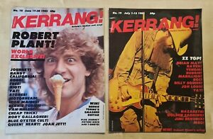 Kerrang! magazines, 1982 Issues: Number 18 & Number 19