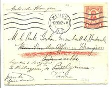 MEXICO 1912 COVER TO BELGIUM -REDIRECTED TO VIENNA   VF