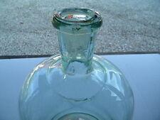 1850 ant.8 L SCHNAPSFLASCHE hellgrünes ABRISSGLAS Brennerei Destillerie Apotheke