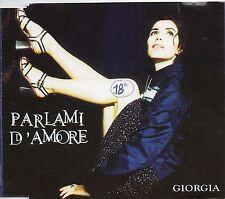 GIORGIA CD single PROMO 1 traccia PARLAMI D'AMORE made in Italy