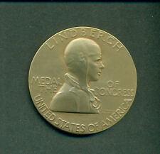 "CHARLES LINDBERGH 2 3/4"" BRONZE MEDAL OF CONGRESS WITH CASE FROM U.S.MINT"