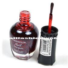 1 Kleancolor Nail Polish Lacquer #40 Red Sparkle Manicure Pedicure