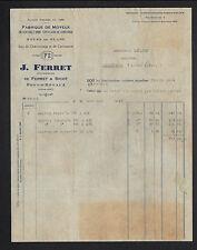 """PORT-D'ENVAUX (17) USINE de MOYEUX & ROUE """"FERRET & SICOT / J. FERRET Succ"""" 1935"""