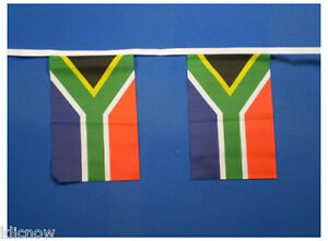 South Africa Bunting 9metres 30ft Long with 30 Cloth fabric Flags