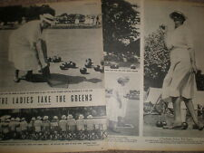 Photo article Beach Park ladies Bowling Club Worthing 1952 My Ref R