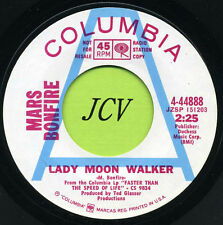 MARS BONFIRE Lady Moon Walker / In Christina's Arms    ROCK  45 RPM  RECORD