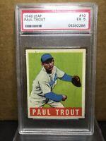 1948 Leaf 10 Paul Dizzy Trout PSA 5 EX Detroit Tigers