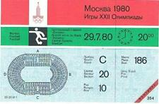 Rare Unused 1980 Moscow Olympic Soccer Ticket