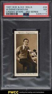 1931 Wills Cinema Stars 3rd Series Walt Disney Mickey Mouse #24 PSA 7 NRMT