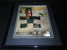 The Great Escape 2003 Xbox PS2 Framed 11x14 ORIGINAL Vintage Advertisement B