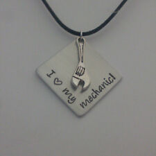 Wrench Tool Building Carpentry Handy Necklace Personalized with Name or message