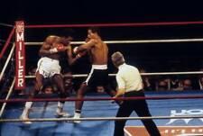 Old Boxing Photo Thomas Hearns Lands An Uppercut Against Wilfredo Benitez