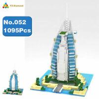 Building Blocks Architecture Burj Al Arab Hotel Mini Diamond Toys Gifts DIY