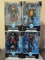 McFarlane Toys DC Multiverse Batman Unmasked Bizarro Nightwing Joker | Lot of 4